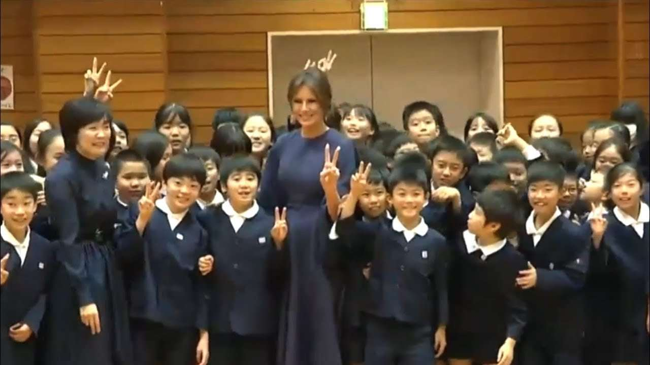 BEAUTIFUL! Elementary Students Sing for Melania Trump in Tokyo, Japan 11/5/17 - YouTube