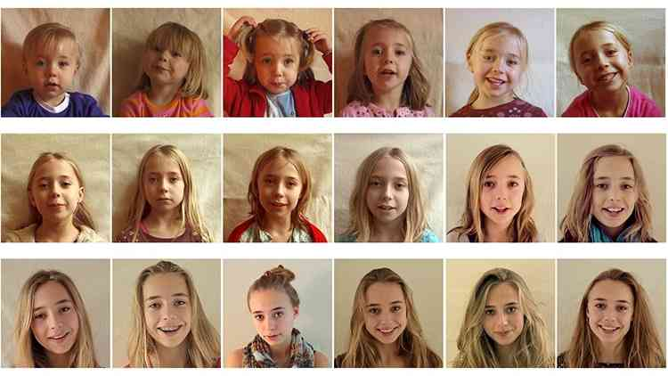 0歳から18歳までの子どもの成長記録を早回しにした動画が12万回以上再生!子育ての時間の短さを実感できた