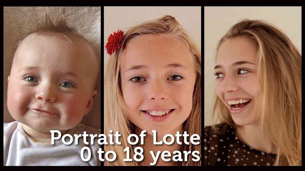 Portrait of Lotte, 0 to 18 years - YouTube