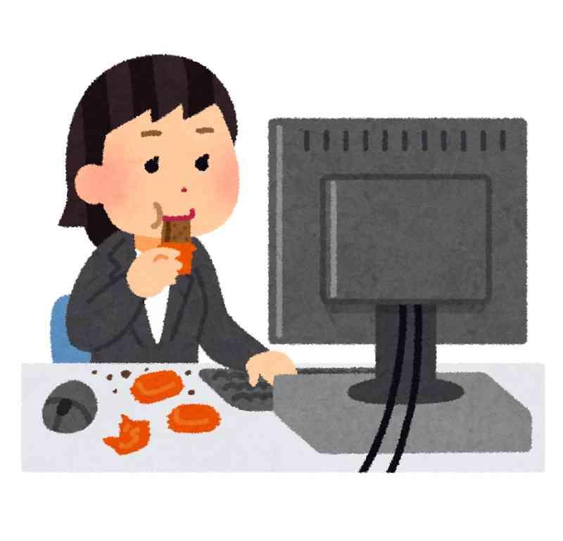 仕事中にお菓子食べますか?