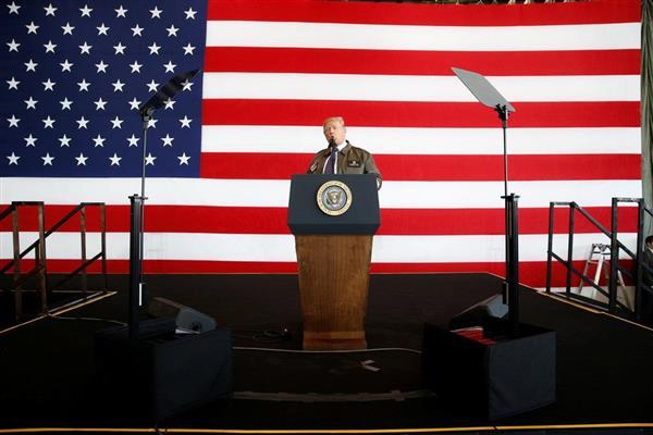【トランプ氏来日】横田基地で演説「日本は貴重なパートナー」「いかなる独裁者も米国の決意を過小評価するな」