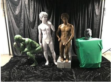 ゴールデンボンバー 今年のハロウィンテーマは「逆に着ない仮装」、本気の「考える人」「小便小僧」を公開|ニフティニュース