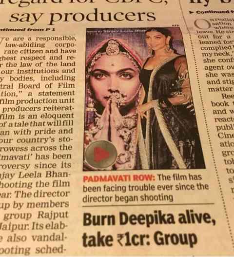 映画上映反対デモって…|印度華麗日記