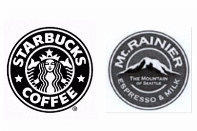スタバが森永の「マウントレーニア」のロゴが似ていると訴訟を起こすも、類似性はないと判決