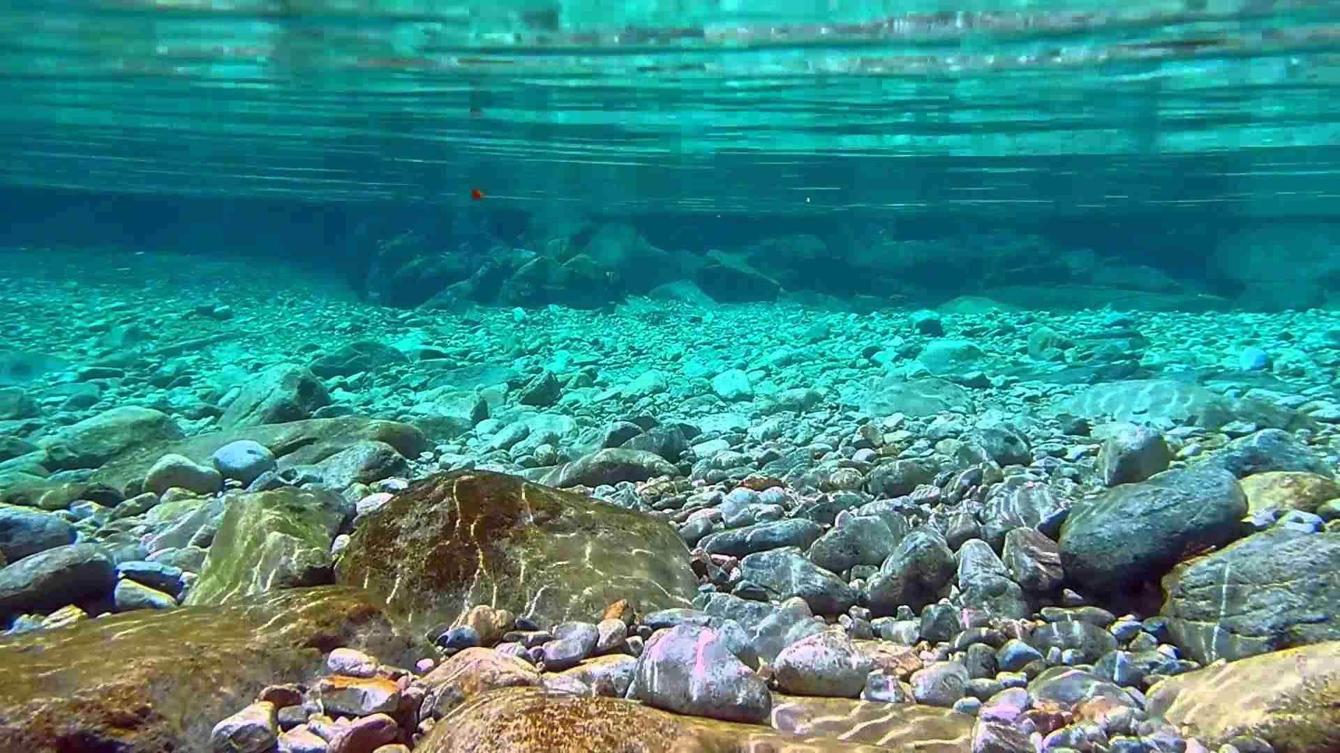 【自然の音と映像】 Nikon Coolpix AW100 - 阿寺渓谷, 水中撮影 / 自然の音 - YouTube