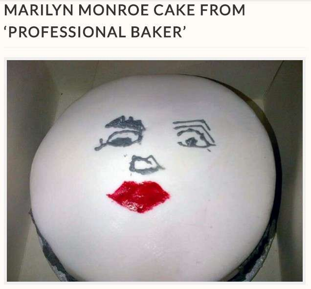 """【海外発!Breaking News】プロに注文した""""マリリン・モンロー""""ケーキ、仕上がりに愕然(英)   Techinsight(テックインサイト) 海外セレブ、国内エンタメのオンリーワンをお届けするニュースサイト"""