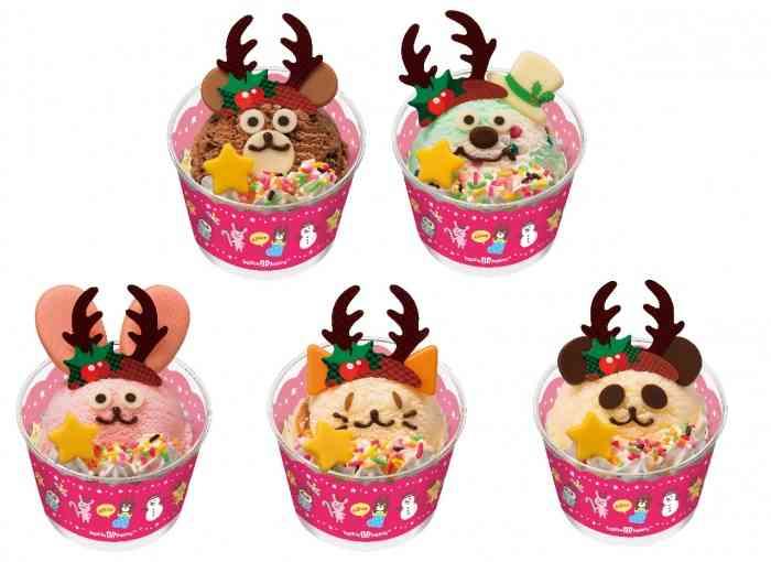 サーティワンのスペシャルなクリスマス 限定フレーバー、ミッキーやプーさんのケーキがラインナップ