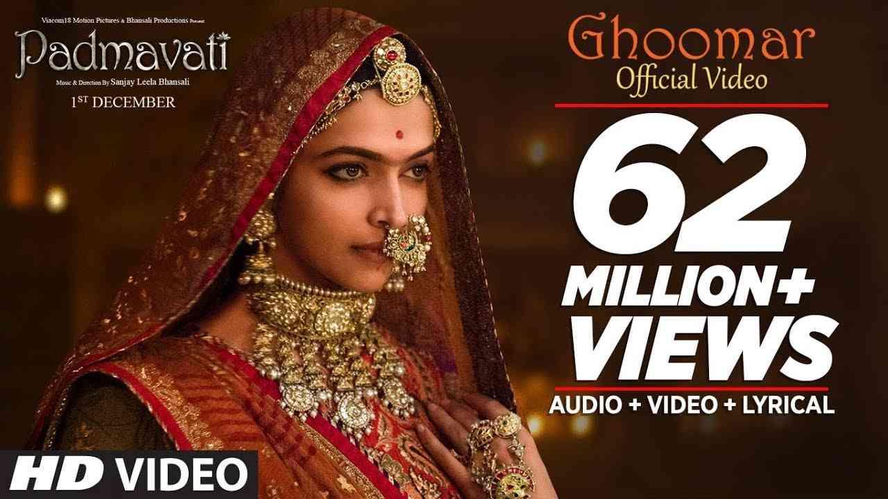 Padmavati : Ghoomar Song| Deepika Padukone| Shahid Kapoor| Ranveer Singh|Shreya Ghoshal|Swaroop Khan - YouTube