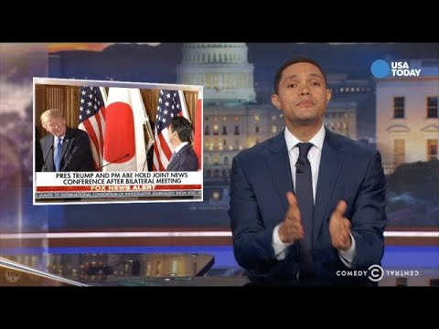 Comics on Trump in Japan in Best of Late Night - YouTube