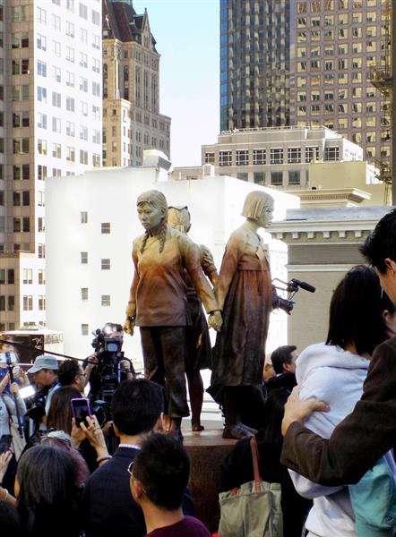 【歴史戦】米サンフランシスコ市議会、慰安婦像の寄贈受け入れ決議可決 大阪市は姉妹都市解消か  - 産経ニュース