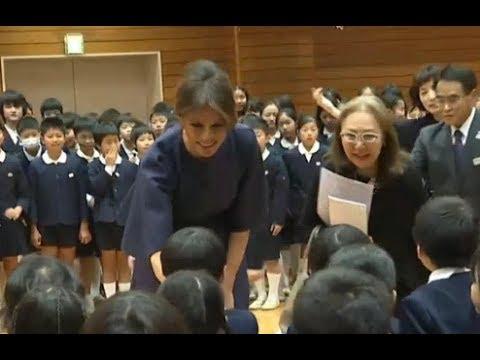 First Lady Melania Trump, Mrs Abe Visits Tokyo School, Japan 11/06/17 - YouTube