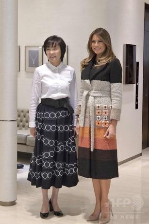安倍昭恵夫人の「パール接待」 メラニア米大統領夫人は何も購入せず