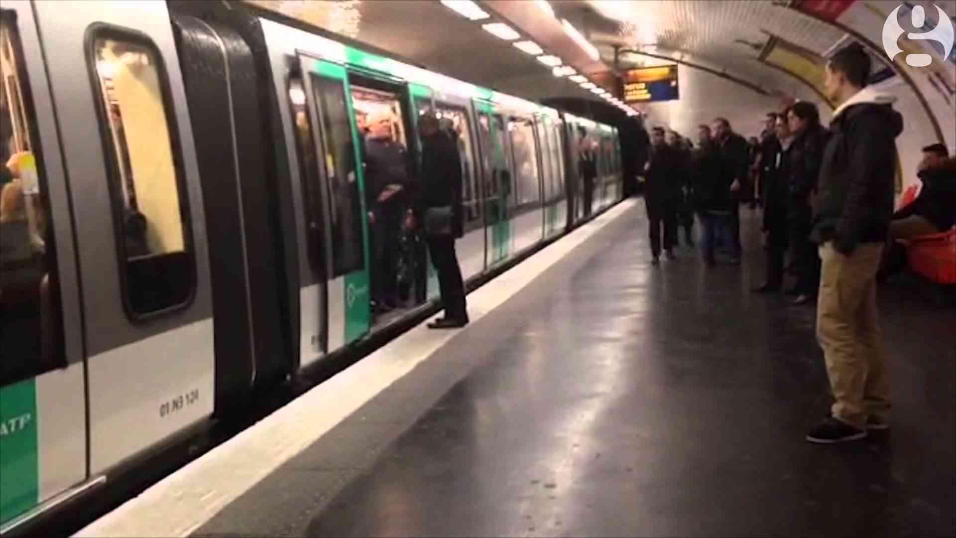 Chelsea fans prevent black man boarding Paris metro train | Guardian Wires - YouTube