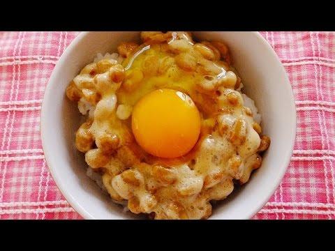 納豆卵かけご飯 Natto raw egg rice - YouTube