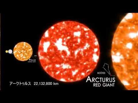 【宇宙ヤバイ】星の大きさを比較 日本語訳付き   from YouTube - YouTube