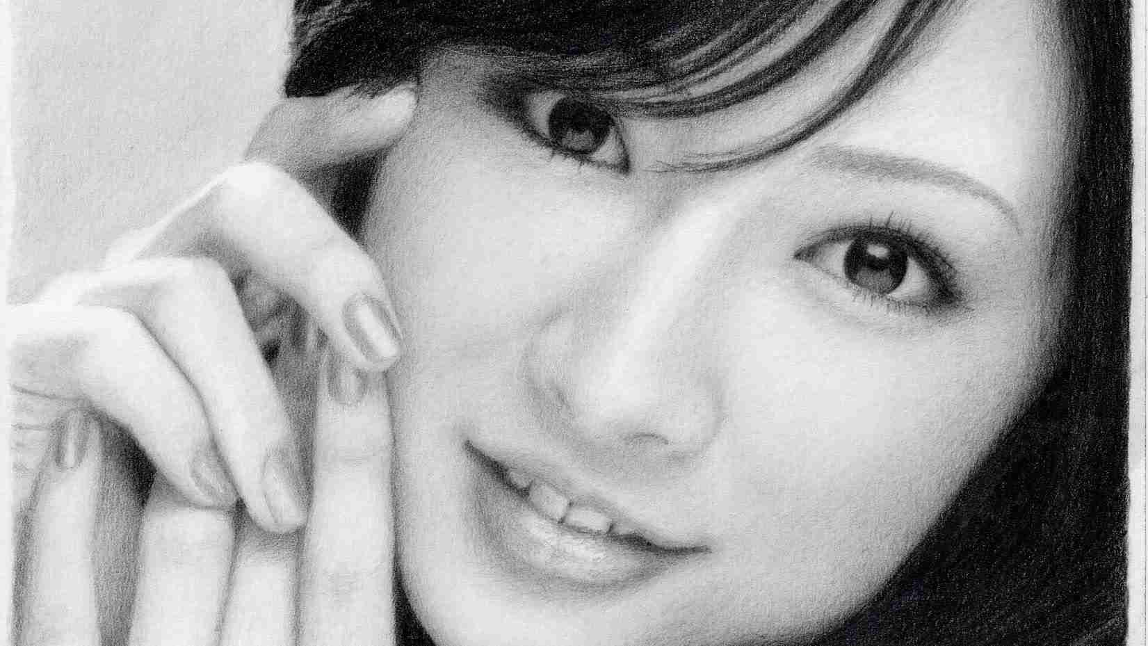 鉛筆画 北川景子 完成までの一部始終 動画 早送り / Keiko Kitagawa / Pencil drawing / How To Draw a Realistic Picture. - YouTube