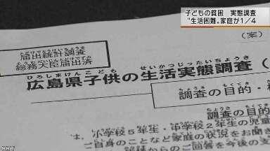 子どもの貧困4分の1が生活困難|NHK 広島県のニュース