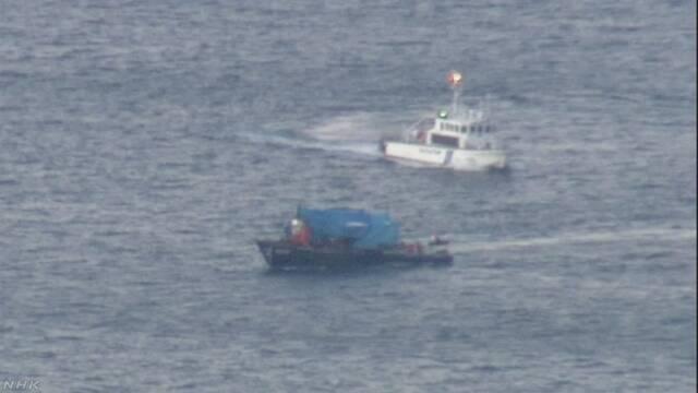 北朝鮮木造船が逃走か 北海道 函館沖