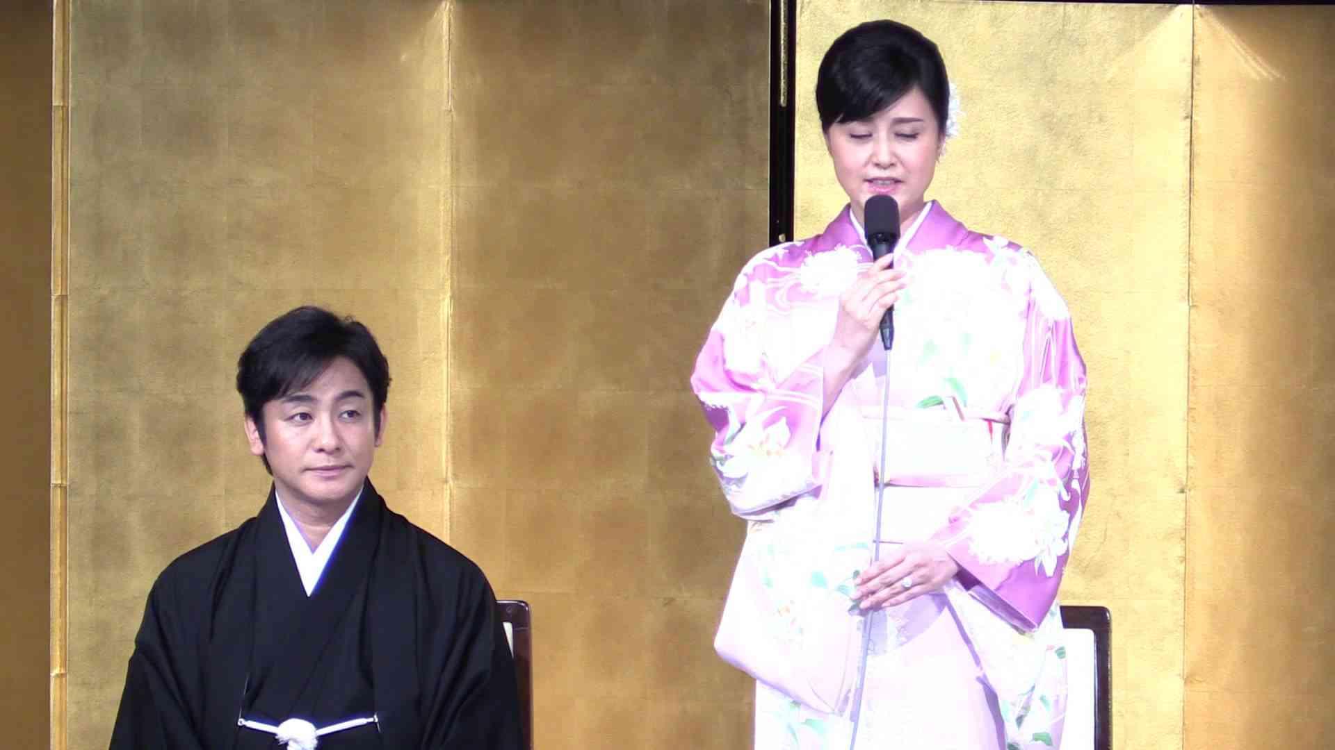 片岡愛之助さんと藤原紀香さんが結婚会見(フルバージョン) - YouTube