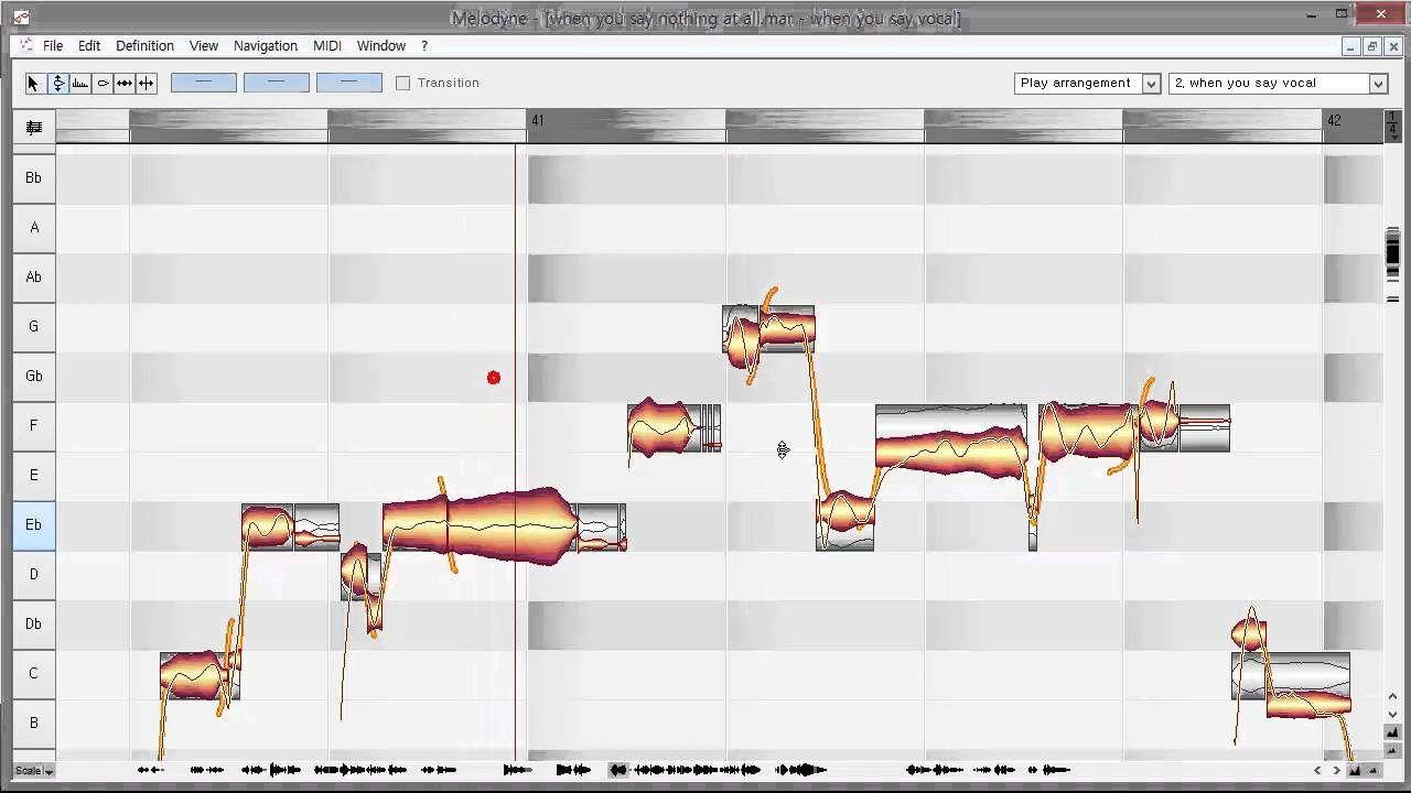 MELODYNE OPERATION メロダインボーカルチューニング作業の試演 - YouTube