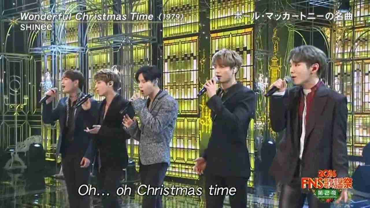 SHINee 20161214 FNS 「 Wonderful Christmas  time」 - YouTube