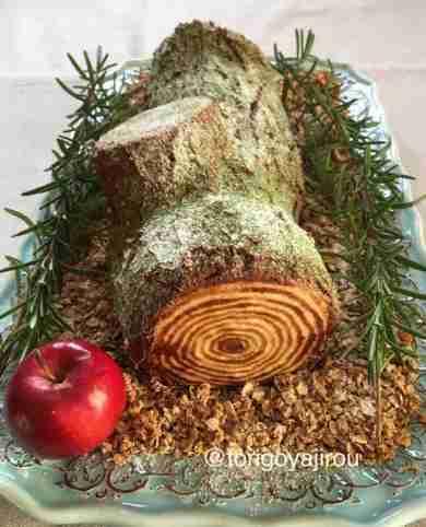 ガチ過ぎてもはや芸術!本物の木にしか見えない「ブッシュドノエル」が食べるのを迷うクオリティー