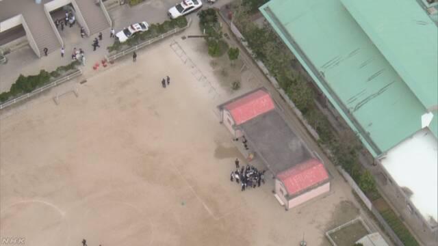 沖縄 小学校に落下物 児童1人が軽傷 米軍ヘリから落下か   NHKニュース