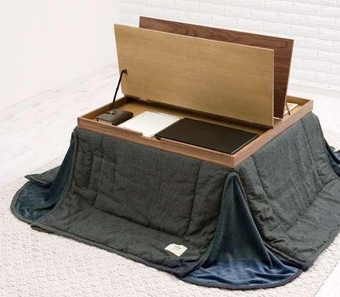 こたつライフがますます捗る キングジムフェアに展示された「収納付きこたつ」に注目集まる