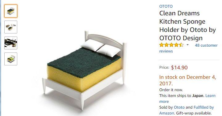「キッチンの食器用スポンジが…ベッドになっていた!」かわいいと評判を呼ぶ