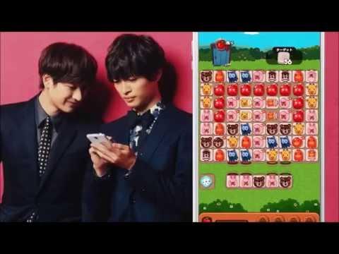 2本版!Kis-My-Ft2 キスマイ玉森・宮田 LINE ポコポコ CM - YouTube