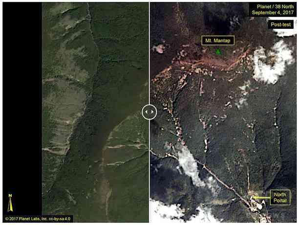 北朝鮮の核実験場近くで地震 実験が誘発した自然地震か