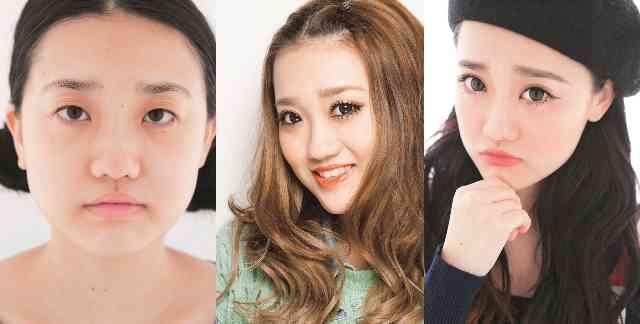 化粧って凄いな…と改めて確認する画像