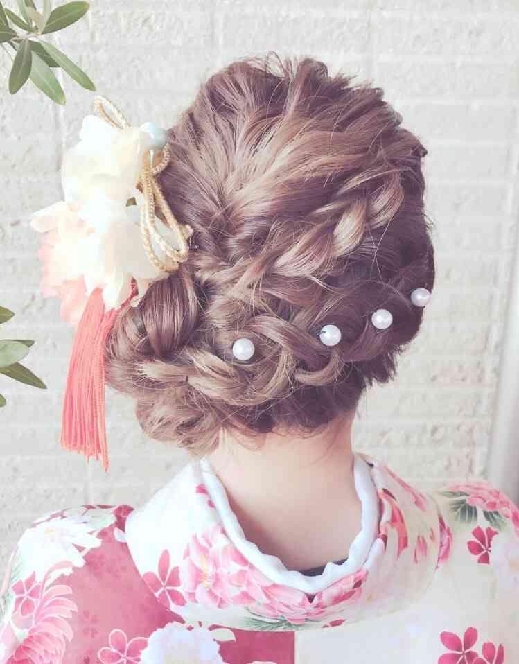 成人式での可愛い髪型♪