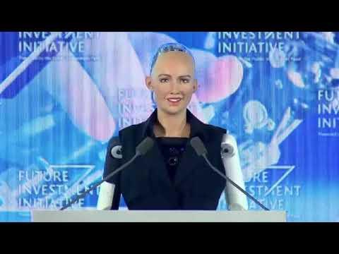 国家から市民権を得たロボットが話題に - YouTube