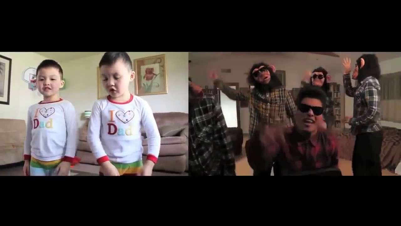 ブルーノ・マーズのPVを完コピするキッズの踊り - YouTube