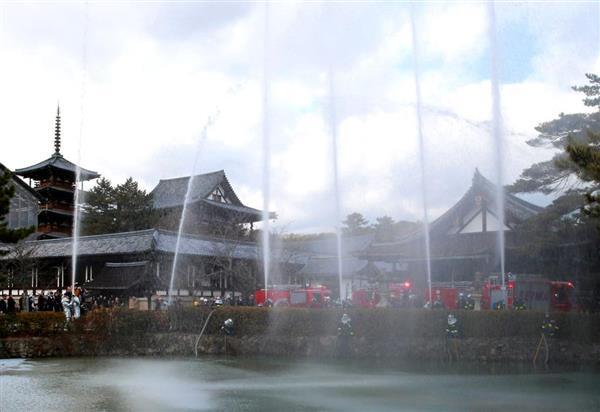 法隆寺で僧侶らが防火訓練 「文化財防火デー」、貴重な文化財守る決意新たに - 産経WEST