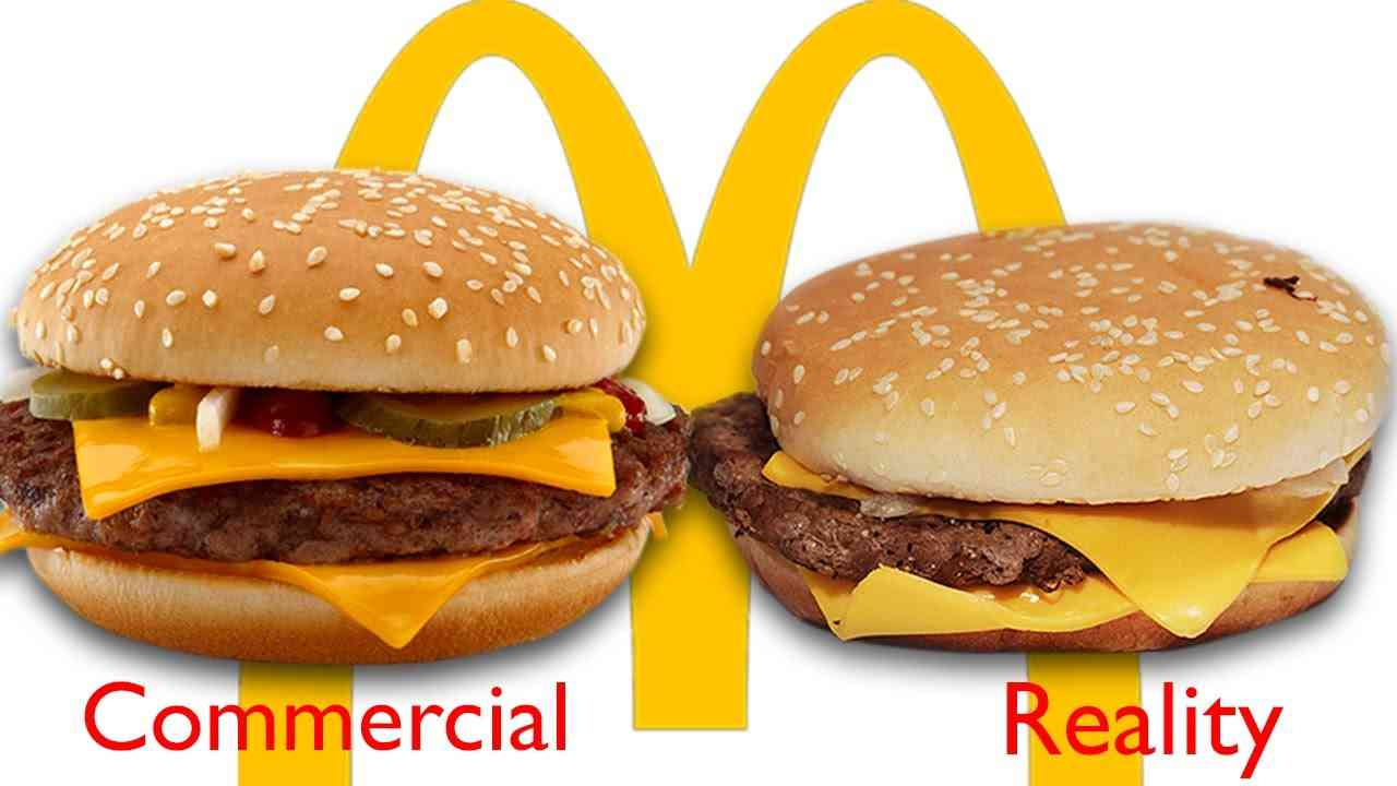 McDonald's Ads vs The Real Thing - YouTube