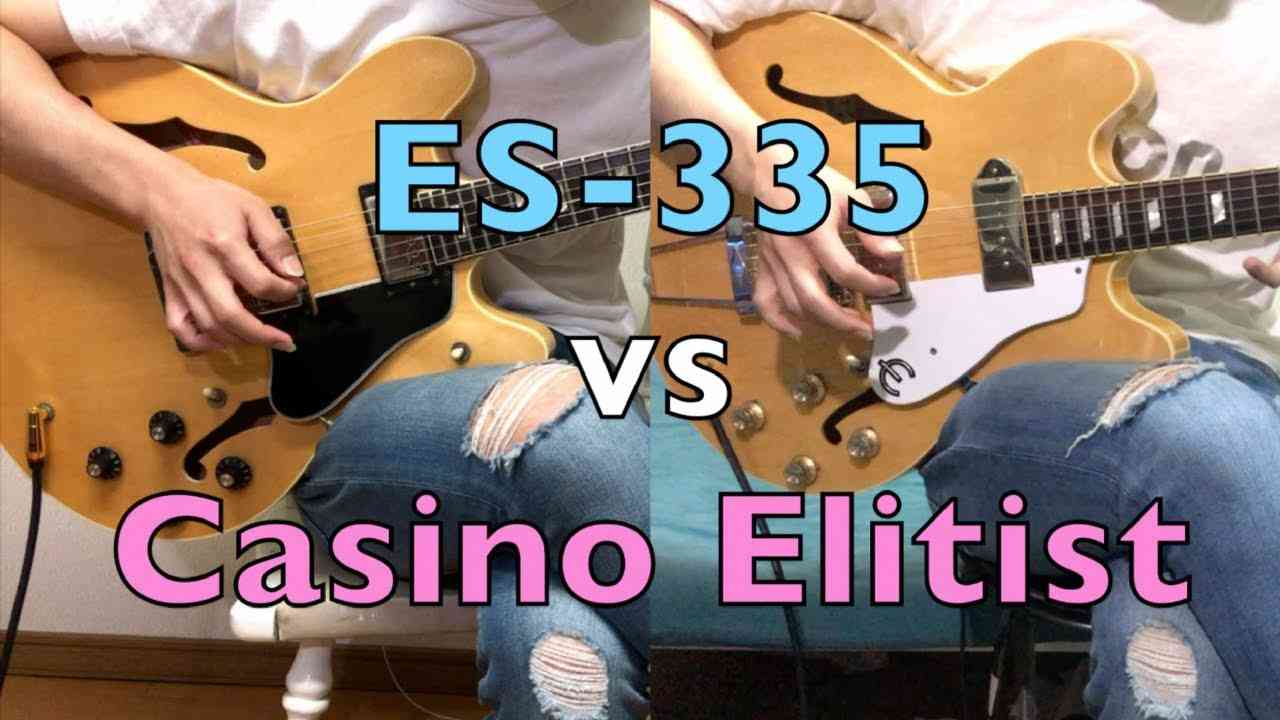 Gibson ES-335 vs Epiphone Casino Elitist | Guitar Comparison - Shootout - YouTube
