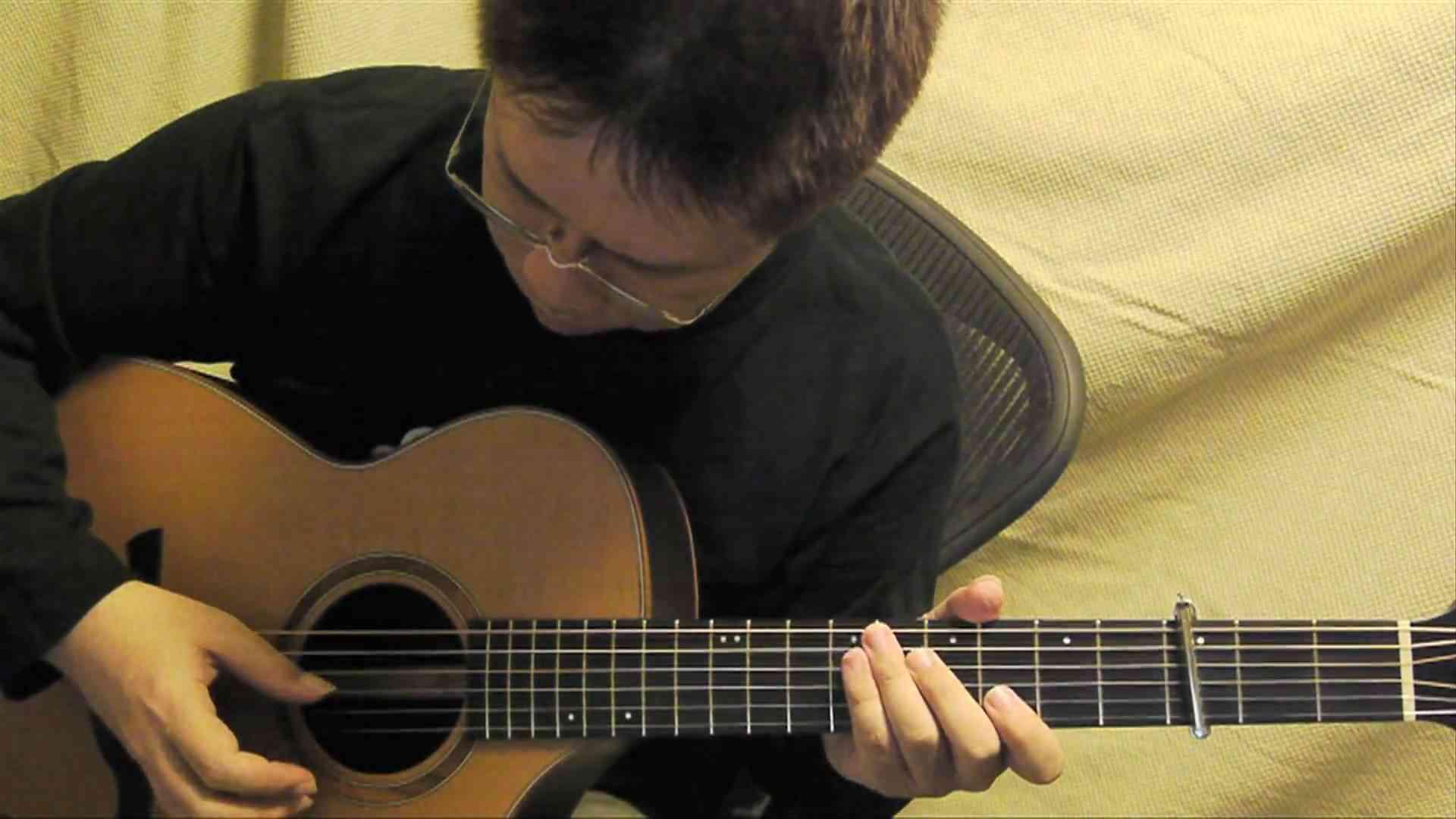 サザエさん一家 (acoustic guitar solo) - YouTube