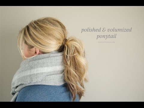 Polished and Volumized Ponytail - YouTube