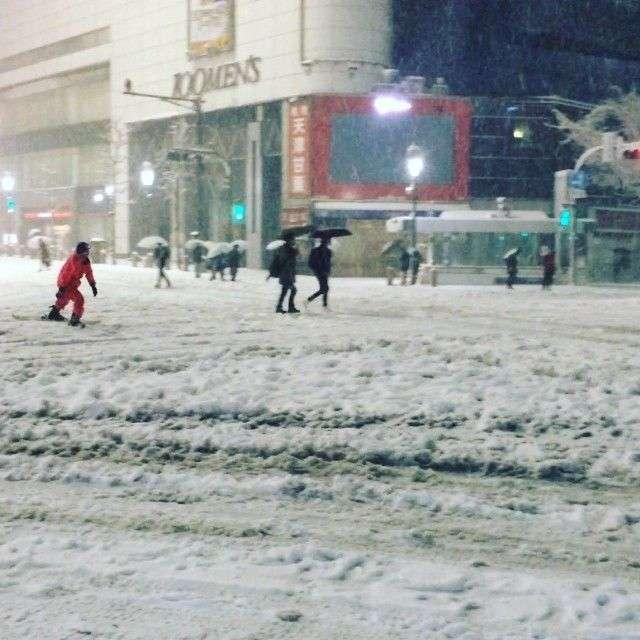 大雪の東京駅で目撃された『日本人らしい』光景が、称賛を集める