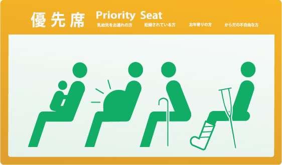 優先座席で妊婦さんに譲りますか?