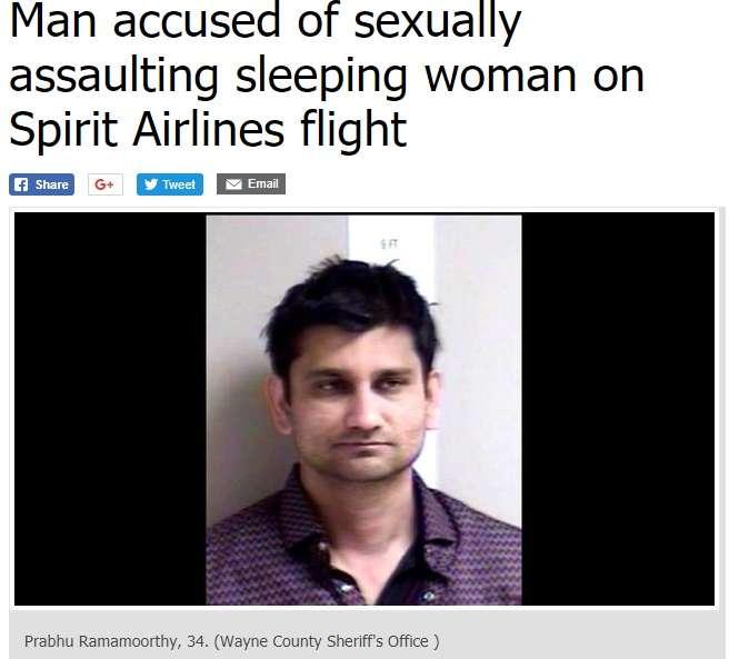 妻と旅行中だった男、機内隣の席の若い女性に強制わいせつ(米)