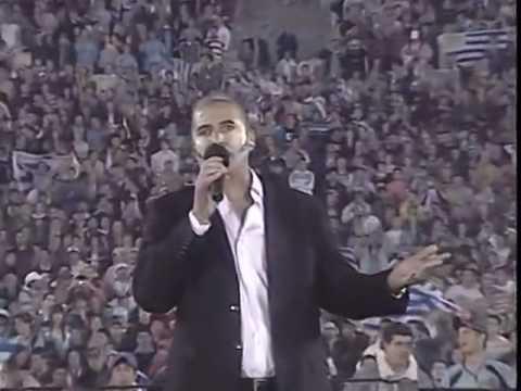 W杯2010予選プレーオフ ウルグアイ×コスタリカ 国歌斉唱 - YouTube
