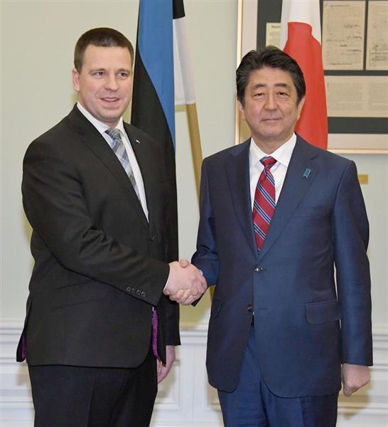北朝鮮圧力最大化で一致 日エストニア首相会談 - 産経ニュース
