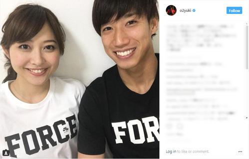 元日本代表の大津祐樹がテレ朝久冨慶子アナと元日婚