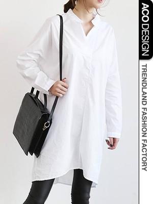 シャツワンピース 白/シャツワンピ 半袖 白/ロングシャツ ワンピース:naning9(ナンニング)|Aco Design(アコデザイン)公式サイト