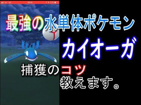 【ポケモンGO】カイオーガ捕獲のコツ教えます。【水単体ポケモン最強】 - YouTube