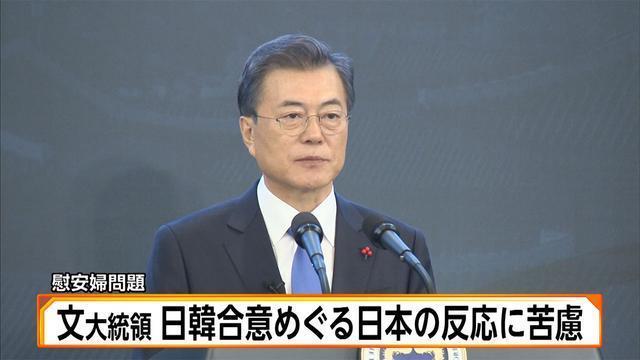 文大統領 日韓合意めぐる日本の反応に苦慮(フジテレビ系(FNN)) - Yahoo!ニュース