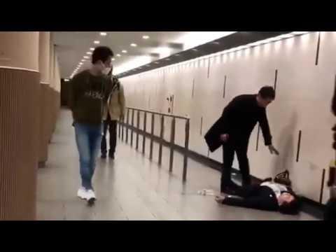 【大阪】 サラリーマン同士の喧嘩で意識不明 【拡散】 - YouTube